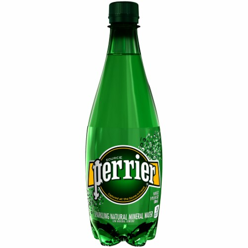 Perrier Carbonated Mineral Water Perspective: front