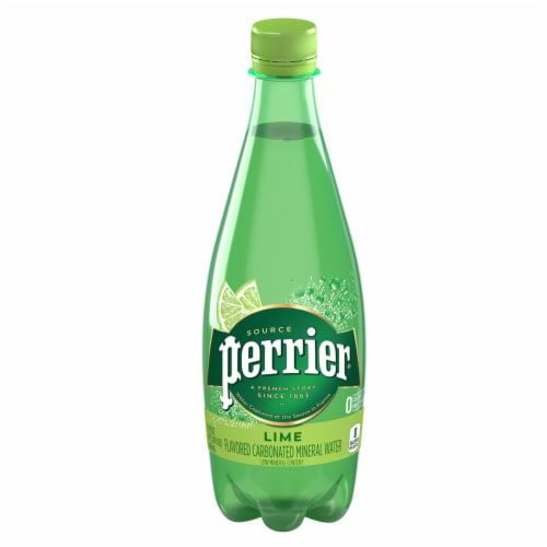 Perrier Lime Flavored Carbonated Mineral Water Perspective: front