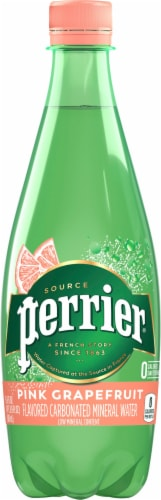 Perrier Pink Grapefruit Sparkling Natural Mineral Water Perspective: front