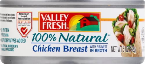 Valley Fresh 100% Natural Canned Chicken Breast Perspective: front