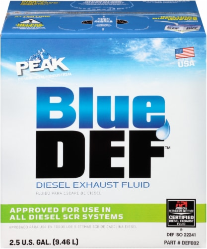 BlueDEF Diesel Exhaust Fluid Perspective: front