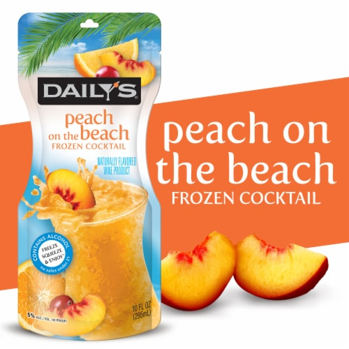 Daily's Peach on the Beach Cocktail Pouch Perspective: front