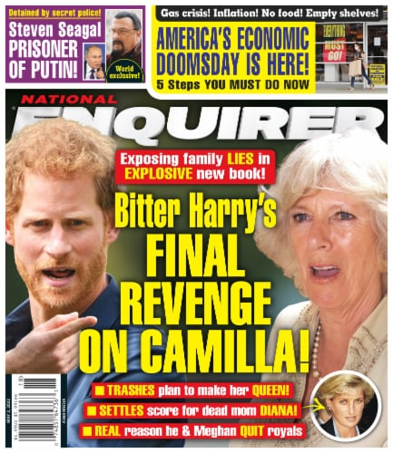 National Enquirer Magazine Perspective: front