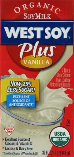 Fred Meyer - WestSoy Plus Organic Vanilla Soy Milk, 32 Fl Oz