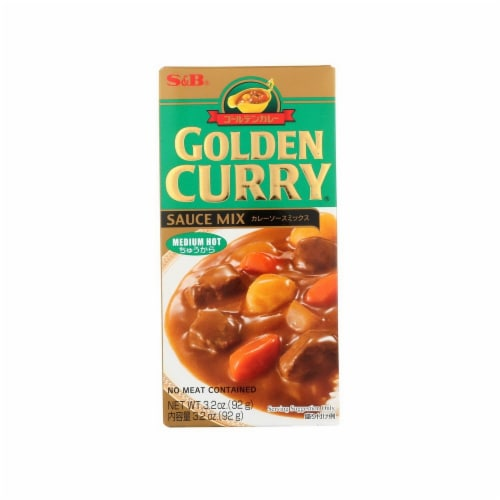 S&B Golden Curry Medium Hot Sauce Mix Perspective: front