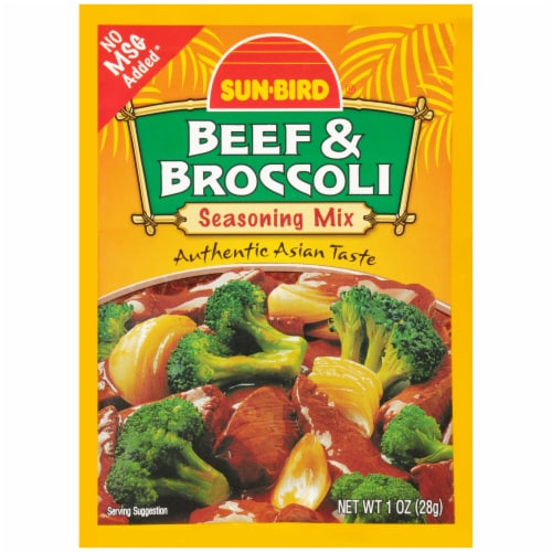 Sun-Bird Beef & Broccoli Seasoning Mix Perspective: front