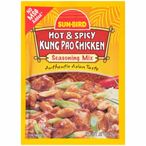 Sun-Bird Hot & Spicy Kung Pao Chicken Seasoning Mix Perspective: front