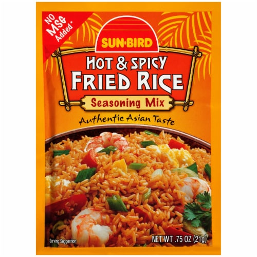 Sun-Bird Hot & Spicy Fried Rice Seasoning Mix Perspective: front