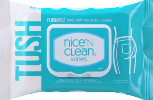 Nice N' Clean Flushable Moist Wipes Perspective: front