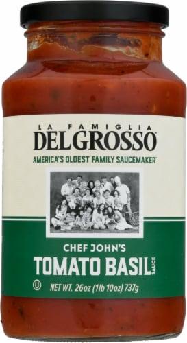 La Famiglia DelGrosso™ Chef John's Tomato Basil Masterpiece Pasta Sauce Perspective: front