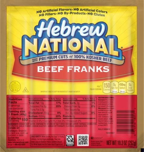 Hebrew National Beef Franks Perspective: front