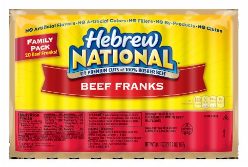 Hebrew National Beef Franks Family Pack Perspective: front