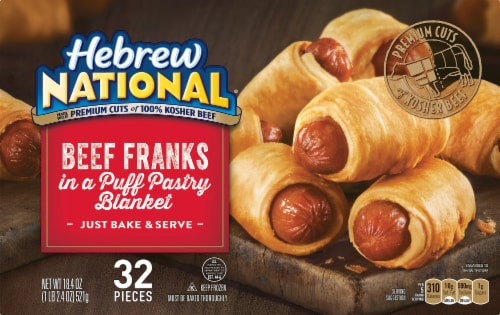 Hebrew National Beef Franks in a Blanket 32 Count Perspective: front