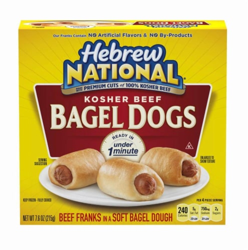 Hebrew National Kosher Beef Bagel Dogs Perspective: front