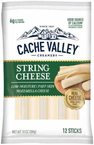 Cache Valley Mozzarella String Cheese Sticks Perspective: front
