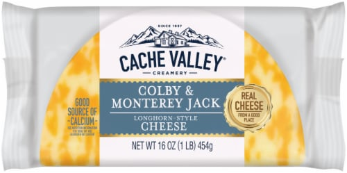 Cache Valley Colby & Monterey Jack Cheese Perspective: front