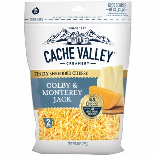 Cache Valley Colby & Monterey Jack Finely Shredded Cheese Perspective: front