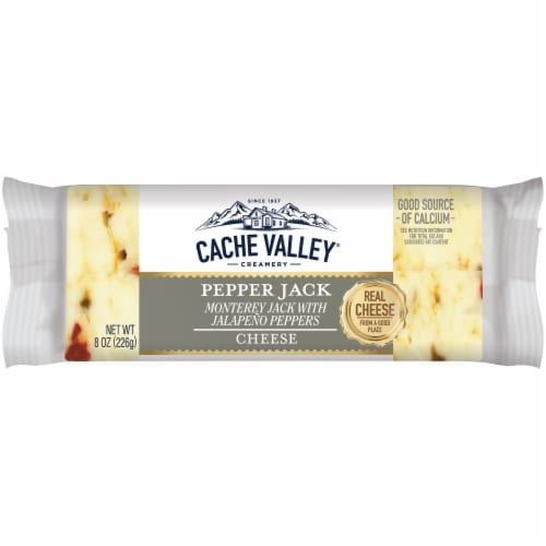 Cache Valley Hot Pepper Jack Cheese Perspective: front