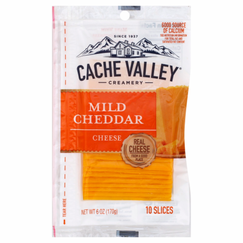 Cache Valley Mild Cheddar Cheese Slices Perspective: front