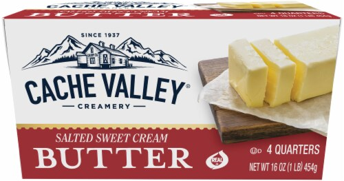 Cache Valley Salted Butter Quarters Perspective: front