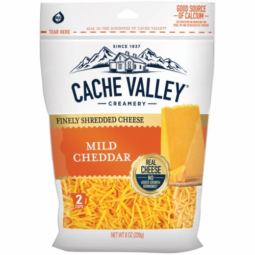 Cache Valley Mild Cheddar Finely Shredded Cheese Perspective: front