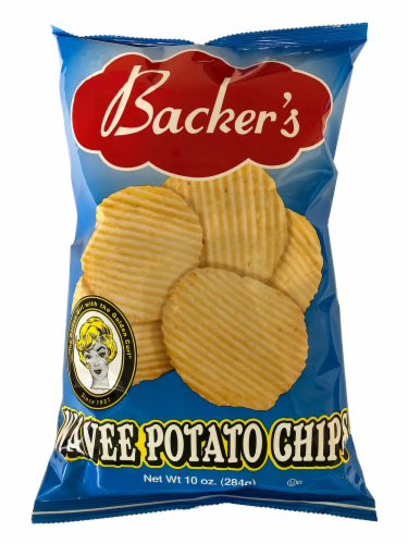 Backer's Wavee Potato Chips Perspective: front