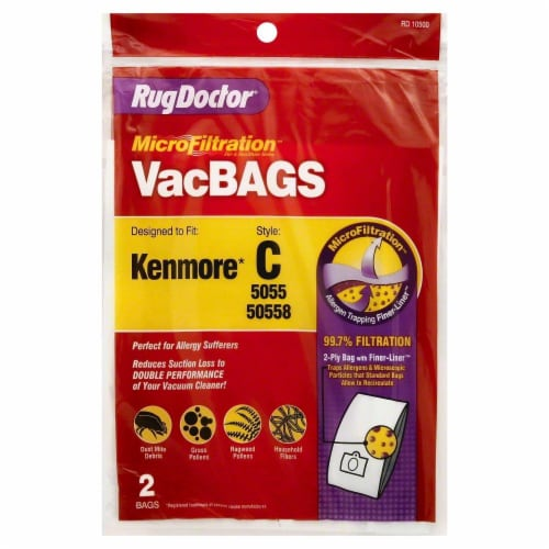 Rug Doctor® Style C Kenmore MicroFiltration™ Vacuum Bag Perspective: front