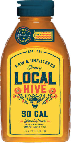 Local Hive So Cal Raw & Unfiltered Honey Perspective: front