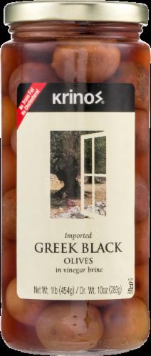 Krinos Greek Black Olives Perspective: front