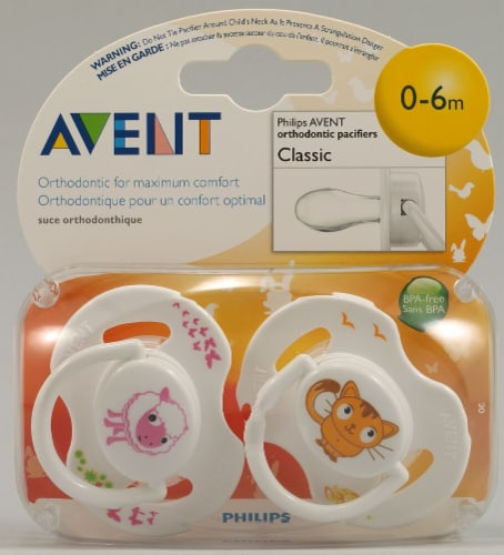 Avent  Classic Pacifier 0-6 Months Perspective: front