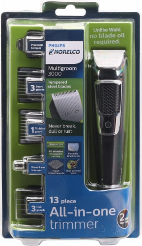 Philips Norelco Multigroom 3000 All-in-One Trimmer Perspective: front