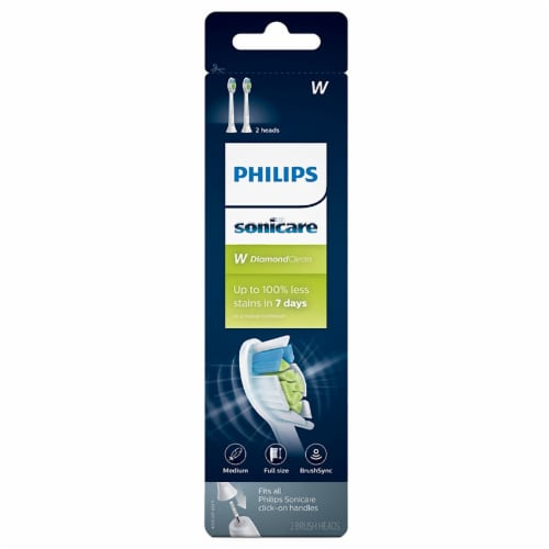 Philips Sonicare W DiamondClean Brush Heads Perspective: front