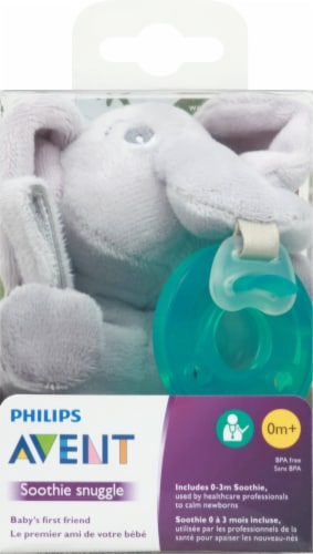 Philips Avent Soothie Snuggle Elephant Plush Perspective: front