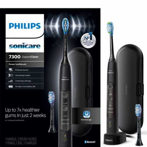 Philips Black Electric Toothbrush Perspective: front