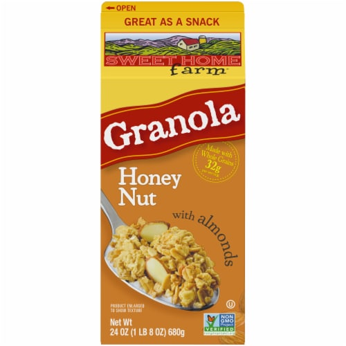 Sweet Home Farm Honey Nut Granola with Almonds Perspective: front