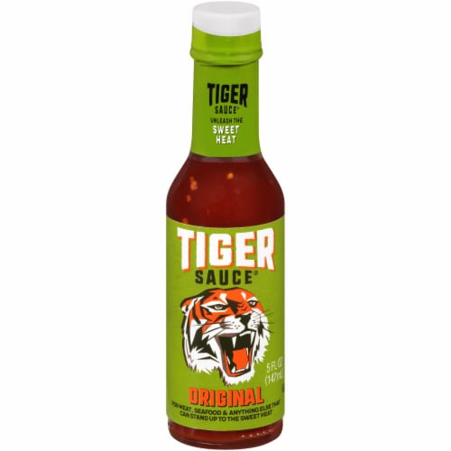 Try Me Tiger Sauce Original Sweet Heat Hot Sauce Perspective: front