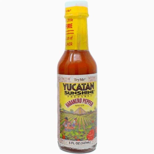 Try Me Yucatan Sunshine Prepared Habanero Pepper Sauce Perspective: front