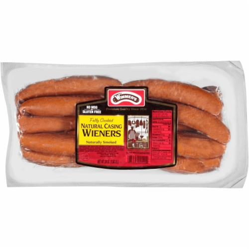Wimmer's Natural Casing Naturally Smoked Wieners Perspective: front