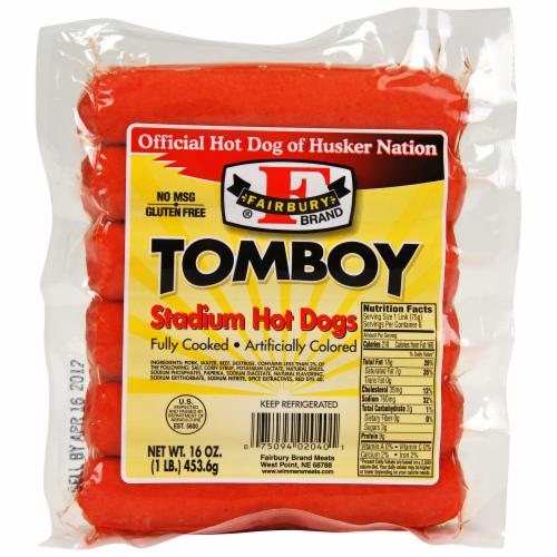 Fairbury Brand Tomboy Stadium Hot Dogs Perspective: front