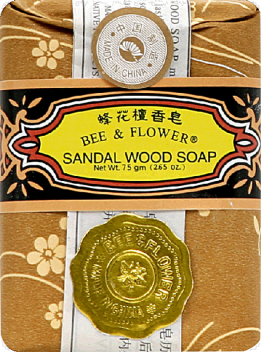 Bee & Flower Sandalwood Soap Perspective: front