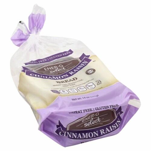 Ener-G Cinnamon Raisin Bread Perspective: front