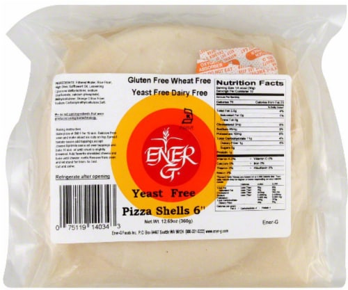 Ener-G Yeast Free Pizza Shells Perspective: front