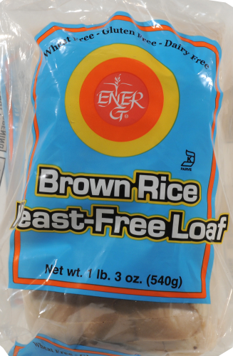 Ener-G Brown Rice Bread Yeast Free Bread Perspective: front