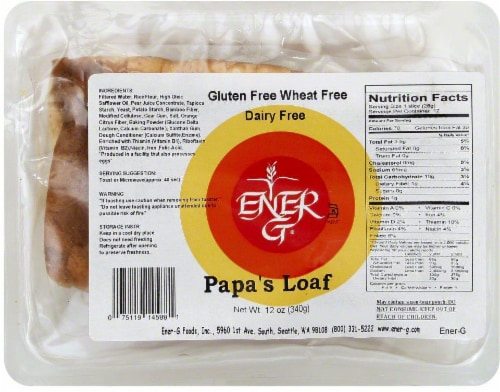 Ener-G Gluten Free Papa's Loaf Perspective: front