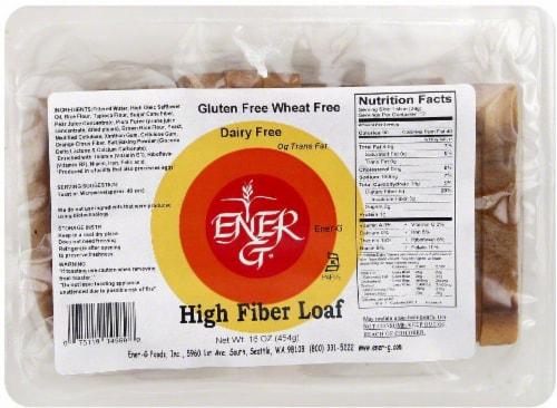 Ener-G High Fiber Loaf Perspective: front