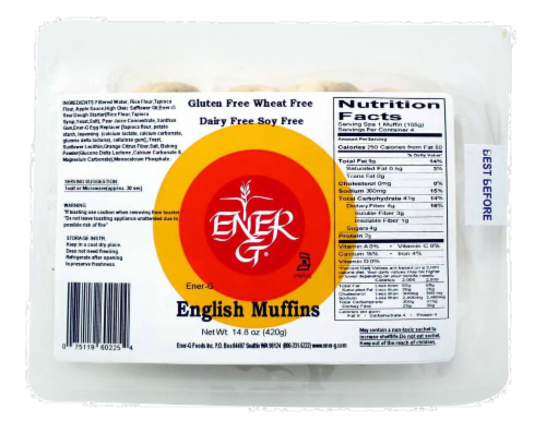 Ener-G English Muffins Perspective: front