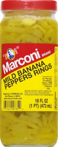 Marconi Mld Banana Pepper Rings Perspective: front