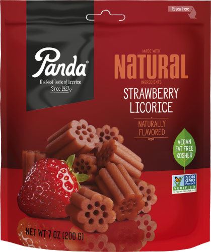 Panda Natural Strawberry Licorice Perspective: front