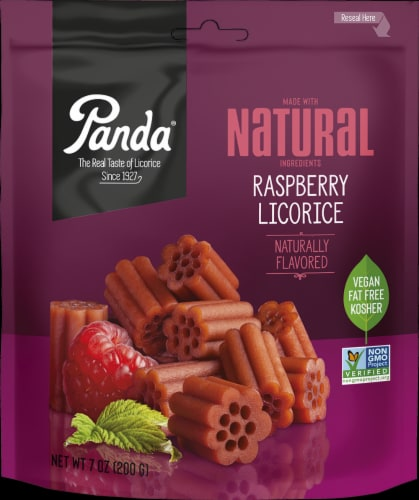 Panda Natural Raspberry Licorice Perspective: front