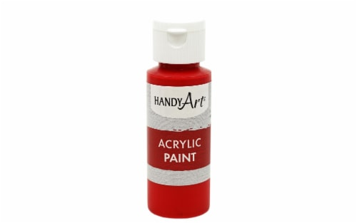 Handy Art Acrylic Paint 2oz Student Brite Red Perspective: front
